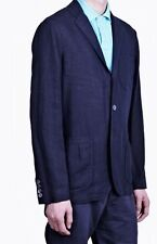 Polo Ralph Lauren Tailored Fit  Linen Sports  Coat in Size 42R  in Navy Blue