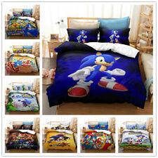 3D Sonic the Hedgehog Kids Bedding Set Duvet Cover Comforter Cover Pillow Case
