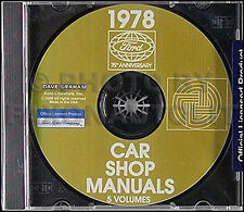 1978 Mercury Shop Manual CD Monarch Cougar XR7 Marquis Grand Marquis Bobcat