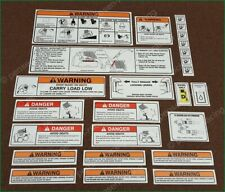 BOBCAT SKID STEER Warning Laminated Decals Stickers 25PC Set Kit Turbo High Flow
