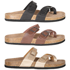 NEW Spendless Womens Rajah Exist Flat Sandal Slide Buckle