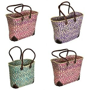Morrocan Spanish Style Shopping Bags Market Bag Storage 3 colours Leather