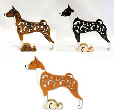 Basenji dog figurine, dog statue made of wood (MDF), hand-paint