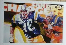 San Diego Chargers Poster - Lance Alworth - Dan Fouts - John Hadl - Seau