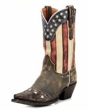 DAN POST LADIES TAN STARS AND STRIPES WESTERN COWBOY BOOT BOOTS 6 M COWGIRL FAIR