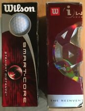 3 Wilson Smart Core Golf Balls And 3 Wilson iWound Golf Balls White