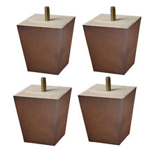 3'' Wooden Furniture Legs Square For Sofa Cabinet Couch Chair Ottoman 4pcs