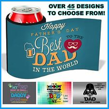 Personalised Father's Day Stubby Cooler, Bottles & Cans, Gift, Hook & Loop Close