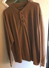 Naturalife XL Brown 3-Button 80% Cotton T-shirt w/cuffs  (B21)