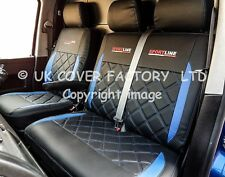 VW Transporter T4 Van Seat Covers- New Bentley Blue Made to Mesure-  A24