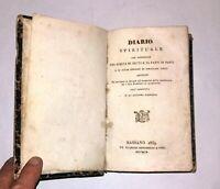 Diario spirituale - Detti e fatti di Santi - Tip. G. Remondini, 1859