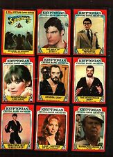 1980 Topps Superman 2 Trading Card Set (88) Cards Ex Condition