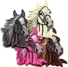Lot of 4 horse colt bronco filly mustang pony stallion appliques iron-on patches