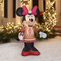 Disney 5 Foot MINNIE MOUSE Christmas Holiday Airblown Inflatable Gemmy