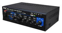 PyleHome PTAU45 2x 120W Stereo Power Amplifier with USB, AUX, CD and Mic Input