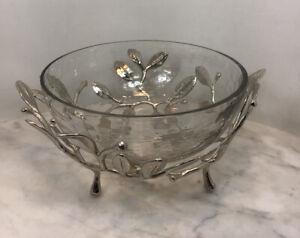 MICHAEL ARAM Laurel Glass Leaf Small Serving Bowl