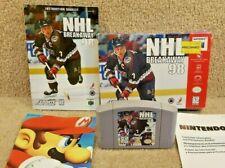 Cleaned & Tested Nintendo 64 Game Cartridge Box Instructions NHL Breakaway 98
