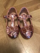 Girls Glittery Pink Shoes Size 6