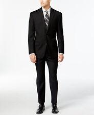$865 MICHAEL KORS Men BLACK Fit Wool Suit Black 2 PIECE JACKET BLAZER PANTS 40 R