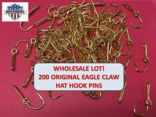 [200] EAGLE CLAW ORIGINAL GOLD-PLATED FISH HOOK HAT PIN/MONEY CLIP - WHOLESALE $