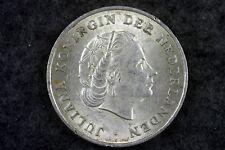 1964 - Netherlands Kingdom Queen Juliana 1 Gulden! #H6389