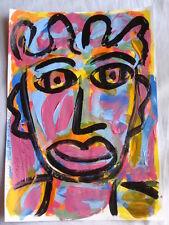 ROYSTON DU MAURIER-LEBEK ORIGINAL PORTRAIT SIGNED ACRYLIC PAINTING PAPER (10)