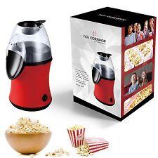 hLix CORNPOP - Heißluft-Popcornmaschine in nur 3 Minuten 1100W ohne Fett und Öl,