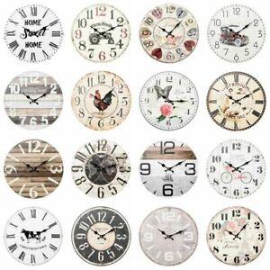 "HOMETIME VINTAGE WALL CLOCKS 8 ASSORTED DESIGNS 30 CM / 12"""