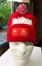 MOLSON CANADIAN OLYMPIC  Beanie Toque MAPLE LEAF Pom Beer  RED WHITE   O/S   EUC
