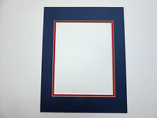 Picture Frame Double Mat 20x24 for 16x20 photo Blue with red liner