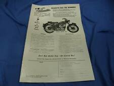 Original Velocette Advertisement Flyer Handout Brochure, 1953 MAC, VE36