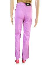 VERSACE Womens Vtg 90s Classic High Waist Lilac Pants Boyfriend Jeans sz 26 AT34