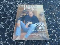 FALL 2000 CELEBRATED LIVING airline magazine ROBERT REDFORD