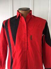 RARE 1980s Banjo Red & Black Womens Medium Western Shirt