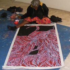 "ABORIGINAL ART PAINTING by JEANNIE PETYARRE (PITJARA) ""BUSH YAM LEAF"" Authentic"