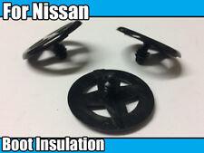 10x aislamiento de arranque para Nissan retén de ajuste de plástico Negro Remaches Clips de rueda