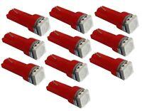10x ampoule T5 12V LED SMD rouge pour tableau de bord auto voiture