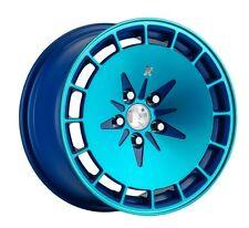 16X9 Klutch KM16 4x114.3 +18 Blue wHEEL Fits Datsun 260Z 240Z 280Z Fender Flares