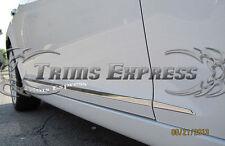 "2008-2012 Chevy Malibu 4Pc Chrome Flat Body Side Molding Trim 1"" Stainless Steel"