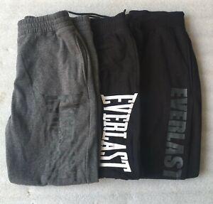 Everlast Mens Tracksuit Bottoms Sweatpants Fleece Track Pants Gym Joggers S-2XL