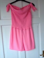 Girls bardot shoulder Bubble Gum pink  Playsuit 11-12 Years River Island