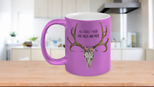 All Good Things Coffee Tea Mug Wild Free Antlers Pink Mother Sister Friend Gift