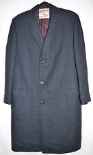 "Botany 500 ""The Metropolitan"" Overcoat Black/Blue Made in USA Men's 42 Long"