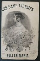 PARTITION HYMNE NATIONAL GOD SAVE THE QUEEN MUSIC SHEET NOTEN SPARTITI