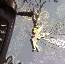 Tinkerbell Rhinestone Clip Cell Phone Charm~*Dust Plug Cover*~All Phones~