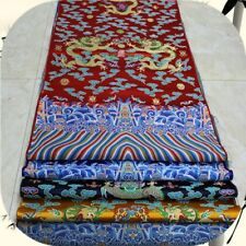 Chinese Dragon Robe Costume Cos Damask Satin Silk Jacquard Brocade Trim Fabric