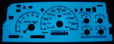 Blue/Green Glow Gauge Overlay For 96-99 Chevy Chevrolet Suburban/Tahoe/CK Truck