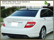 #650 AMG Trunk Spoiler & #040 OE Roof Wing For M-BENZ W204 C-Class Sedan 08-14