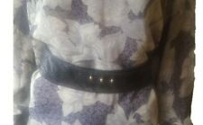 100% authentic black python snake ladies chic vintage wide adjustable belt-L