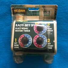 Nelson Electronic Water Timer 5930 Easy Set 3 NEW